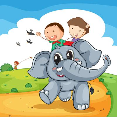 Cover art for Sebbie and Hermione Go on an Elephant Ride