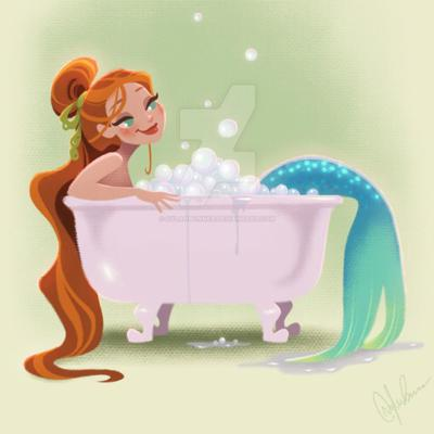 Cover art for Eloise and Teddy Find a Mermaid in their Milk Bath [Bedtime Story]