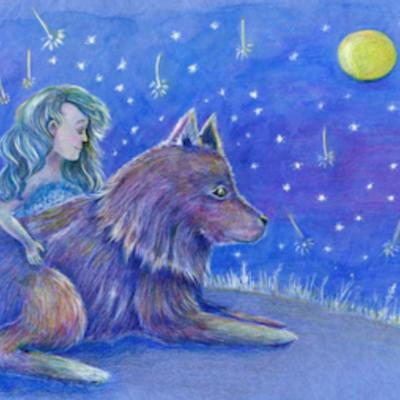 Cover art for Lucy's Invisible Wolf [Kid's Story]