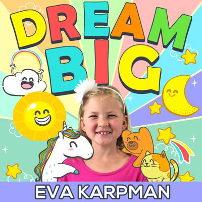 The Dream Big Podcast is a family-friendly podcast inspiring kids (and adults!) to pursue their passions in life and take action to make their dreams a reality. Your hosts Eva Karpman (currently 10-years-old in the 5th grade) and mom Olga Karpman interview world-class performers who do what they love and live their dreams each and every day.   Eva also does solo episode where she answers questions from our audience and discusses personal development principles.   The Dream Big Podcast's short 15-20 minute format makes for the perfect length to listen to an episode in the car with your kids. Subscribe and together we can inspire each other to dream big and take action. To get to the podcast website, cut and paste the link DreamBigPodcast.com into your browser. Get ready to DREAM BIG!